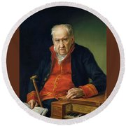 Vicente Portaia Lopez  Felix Maximo Lopez First Organist Of The Royal Chapel 1820 Round Beach Towel