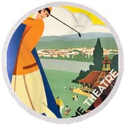 Vichy, Sport Tourism, Woman Play Golf Round Beach Towel