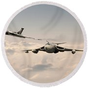 Victor And Vulcan Round Beach Towel