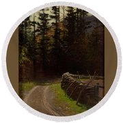 Victor Coleman Anderson  1882  1937 Road By The Woods Round Beach Towel