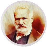 Victor Hugo, Literary Legend Round Beach Towel
