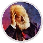 Victor Hugo, Literary Legend Round Beach Towel