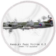 Victor Sketch - Xh669 Round Beach Towel