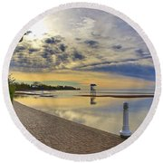 Victoria Beach Early Morning  Round Beach Towel