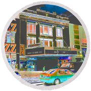 Victoria Theater 125th St Nyc Round Beach Towel