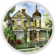 Victorian In The Avenues Round Beach Towel