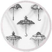Victorian Parasols Round Beach Towel