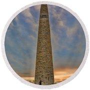 Victory - Bennington Battle Monument Round Beach Towel