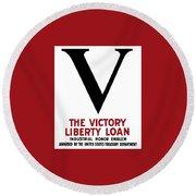 Victory Liberty Loan Industrial Honor Emblem Round Beach Towel