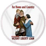 Victory Liberty Loan - World War One  Round Beach Towel