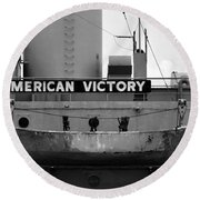 Victory Ship Round Beach Towel