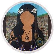 Vidas Pasadas, Woodstock 1969 Round Beach Towel