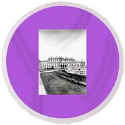 Vienna And The Belvedere Round Beach Towel