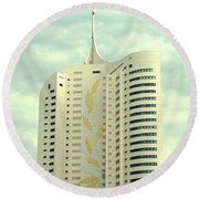 Vienna Architecture Round Beach Towel