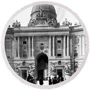 Vienna Austria - Imperial Palace - C 1902 Round Beach Towel