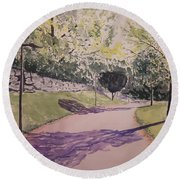 Vienna In Summer Round Beach Towel