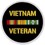 Vietnam Veteran Ribbon Bar  Round Beach Towel