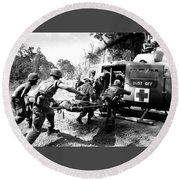 Vietnam War Round Beach Towel