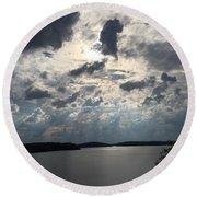 View Across Wappapello Lake IIi Round Beach Towel