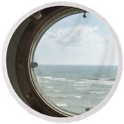 View At Sea II Round Beach Towel
