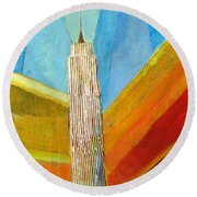 View From 34th St Round Beach Towel