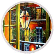 View From A French Quarter Balcony Round Beach Towel by Diane Millsap