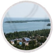 View From Above Round Beach Towel
