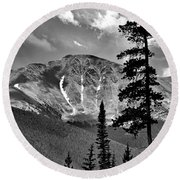 View From Atop Winter Park Mountain 2 Round Beach Towel