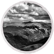 View From Atop Winter Park Mountain 3 Round Beach Towel