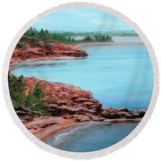 View From Cape Bear Round Beach Towel