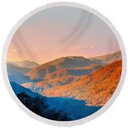 View From Chimney Rock-north Carolina Round Beach Towel