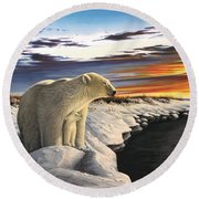 View From Churchill Round Beach Towel