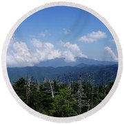 View From Clingman's Dome Round Beach Towel