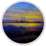 View From Clontarf - Dublin Round Beach Towel