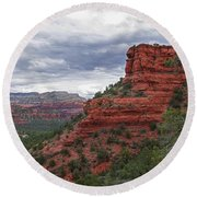 View From Doe Mountain Trail Round Beach Towel