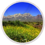 View From Dripping Springs Rd Round Beach Towel