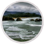 View From Ecola Round Beach Towel