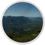 View From Elk Mountain Round Beach Towel