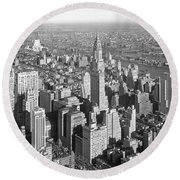 View From Empire State Bldg. Round Beach Towel