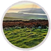 View From Grianan Fort Round Beach Towel