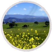 View From Highway 154 Round Beach Towel