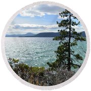 View From Incline Village Round Beach Towel