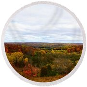 View From Kidder Road Round Beach Towel