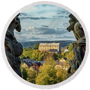 View From Kuks Hospital - Czechia Round Beach Towel