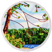 View From Mazengah - Crop Round Beach Towel