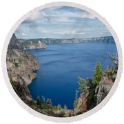 View From Merriam Point Round Beach Towel