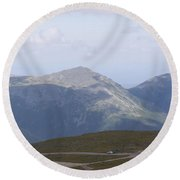 View From Mount Washington Round Beach Towel