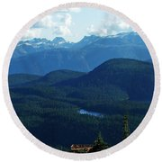 View From Mt. Wahington II Round Beach Towel