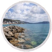 View From North Wall - Lyme Regis Round Beach Towel