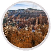 View From Rim Trail Round Beach Towel